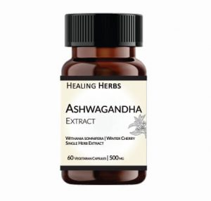 Ashwagandha Extract 60 Capsules 150 cc Amber PET bottle with Screw Cap