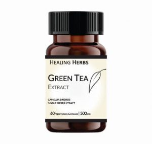 Green Tea Extract 500 mg Capsules, 60 Capsules in PET 150 cc Amber coloured bottle