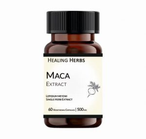 Maca Extract 60 Vegetarian 500 mg Capsules in Amber coloured 150 cc PET bottle