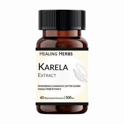 Karela Extract 60 Vegetarian 500 mg Capsules in Amber coloured 150 cc PET bottle