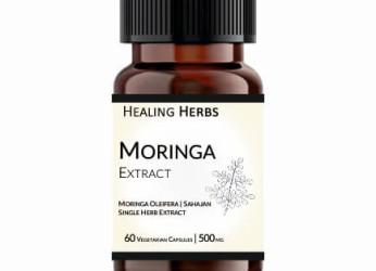 Moringa Extract 60 Vegetarian 500 mg Capsules in Amber coloured 150 cc PET bottle