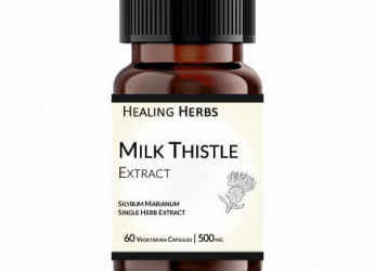 Milk Thistle Extract 60 Vegetarian 500 mg Capsules in Amber coloured 150 cc PET bottle