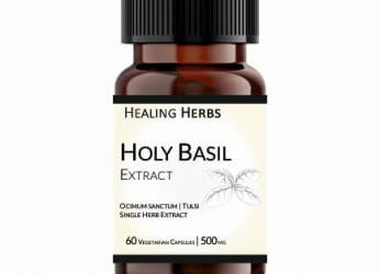 Holy Basil Extract | Tusli Extract 60 Vegetarian 500 mg Capsules in Amber coloured PET bottle