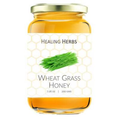 Honey with wheatgrass