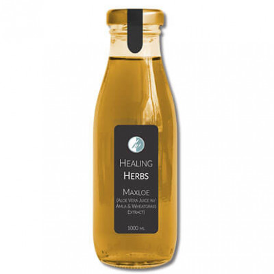Aloe vera juice with wheatgrass and amla