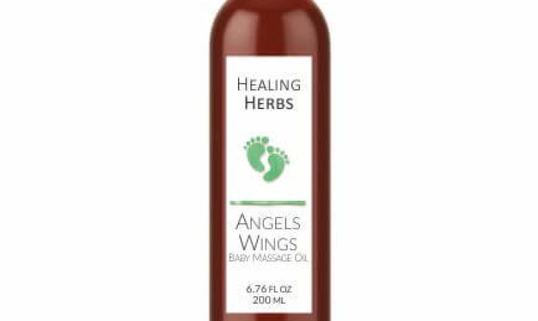 Angel Wings Baby Massage Oil