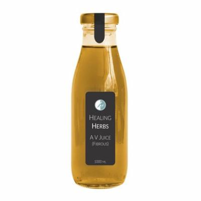 Aloe Vera Fibrous juice in glass bottle with Lug cap