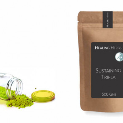 packaging for health supplements in paper pouch and glass bottles